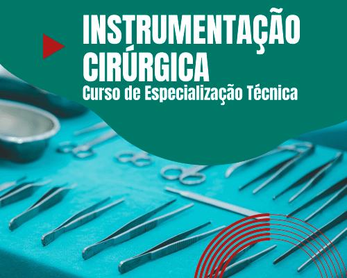 Mesa com instrumentos cirúrgicos - Especialização em Instrumentação Cirúrgica para Técnicos em Enfermagem
