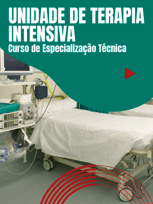 Técnica em enfermagem analisando monitor de unidade de terapia intensiva - Especialização em Unidade de Terapia Intensiva